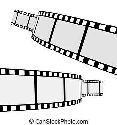 Cinema Film Strip - Set of two blank cinema film strip ...