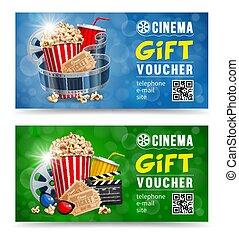 Cinema Gift Voucher - Cinema gift vouchers designs with...