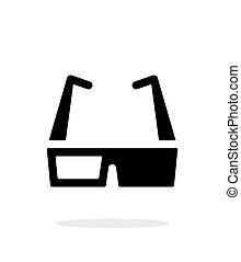 Cinema glasses simple icon on white background.