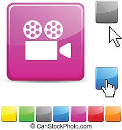 Cinema glossy button.