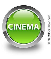Cinema glossy green round button