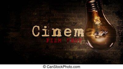 Cinema horror night with bulb - Cinema horror night intro or...