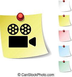 Cinema icon. - Cinema sheet icon. Vector illustration. .