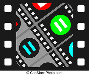 Cinema icon - Creative design of cinema icon