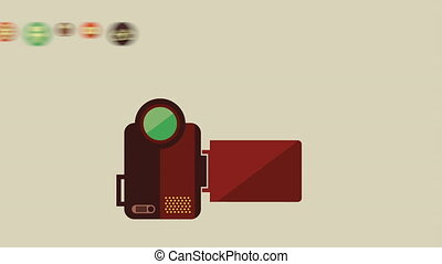 Cinema Icon Design, Video Animation