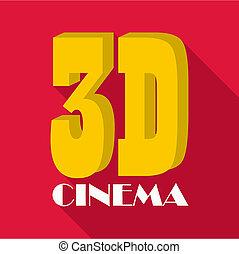 Cinema icon, flat style