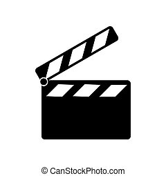 Cinema Icon isolate on white background drawing by ...