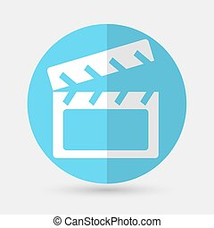 cinema icon on a white background