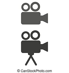 Cinema icon on white background.