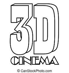 Cinema icon, outline style