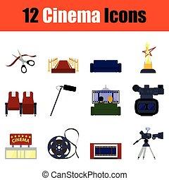cinema, icona, set