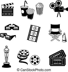 Cinema Icons - Complete set of Cinema and movie related...