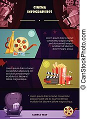 Cinema Infographic Set