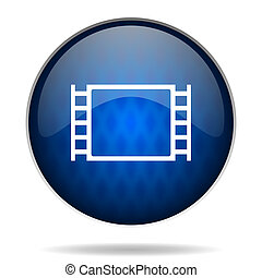 cinema internet blue icon