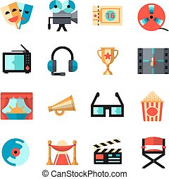 Cinema Isolated Icon Set