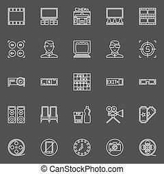 Cinema line icons