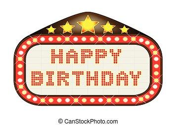 Cinema Marquee Happy Birthday - A Happy Birthday movie...