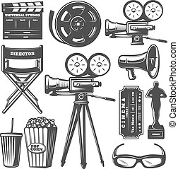 Cinema Monochrome Elements Set