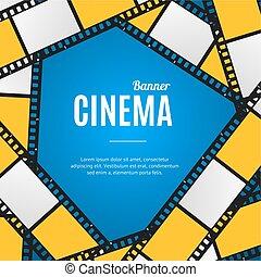 Cinema Movie Film Stripe or Reel Background. Vector