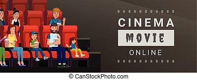 Cinema movie online banner
