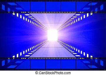 cinema movie projector and film