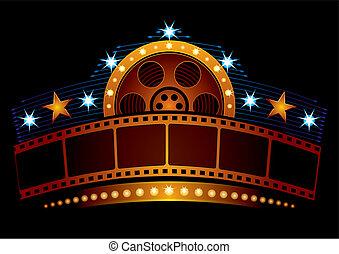 cinema, neon