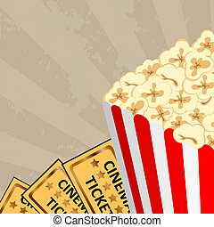 Cinema - popcorn and tickets