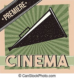 cinema premiere poster vintage director speaker
