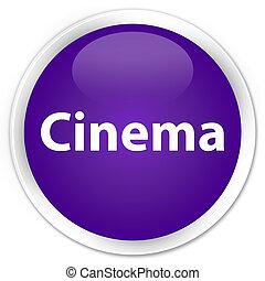 Cinema premium purple round button