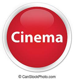 Cinema premium red round button