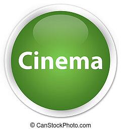 Cinema premium soft green round button