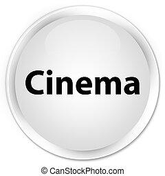 Cinema premium white round button