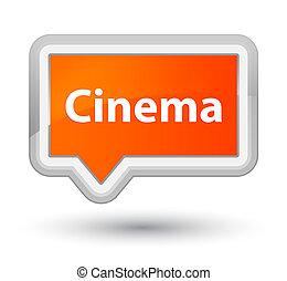 Cinema prime orange banner button