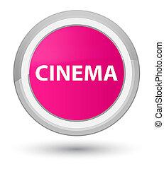 Cinema prime pink round button