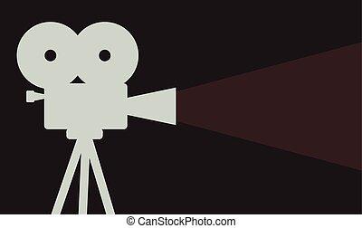 cinema projector background cinematography symbol vector...