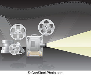cinema projector vector illustration