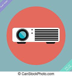 Cinema projector - vector illustration.