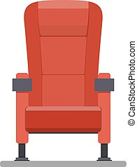 Cinema red comfortable seat