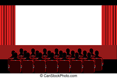 Cinema - red room - People in the cinema
