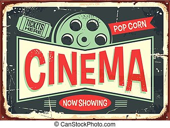 Cinema retro decorative sign