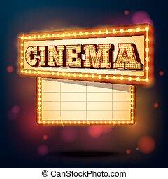 cinema, retro, sinal