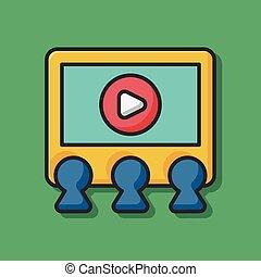 cinema screen icon