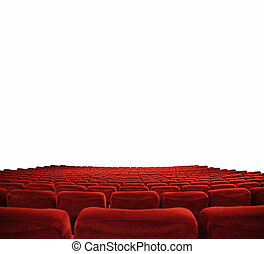 Cinema seats  - classic cinema with red seats
