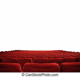 Cinema seats  - classic cinema with red seats