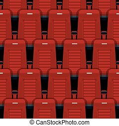 Cinema seats seamless background