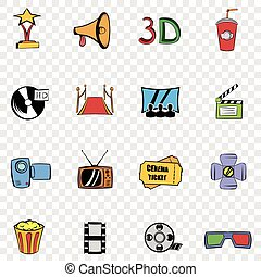 Cinema set icons