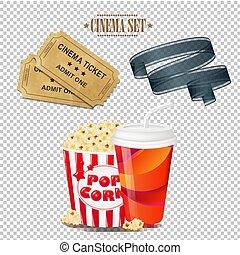 Cinema Set Isolated
