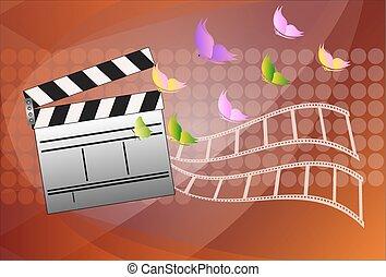 Cinema slate board. Vector illustration.
