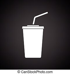 Cinema soda drink icon