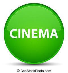 Cinema special green round button
